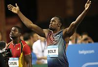 Friidrett<br /> 06.09.2013<br /> Foto: imago/Digitalsport<br /> NORWAY ONLY<br /> <br /> Brüssel Belgien, Leichtathletik, Athletics, Track and Field, IAAF Diamond League Brussels 2013, Ivo van Damme Memorial, 06.09.2013 , Brüssel, Usain Bolt, Jamaika, 100m