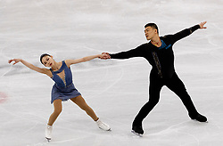 February 15, 2018 - Gangneung, South Korea - Ice skaters Xiaoyu Yu and Hao Zhang of China perform during the Pairs Figure Skating Free Skating at the PyeongChang 2018 Winter Olympic Games at Gangneung Ice Arena on Thursday February 15, 2018. (Credit Image: © Paul Kitagaki Jr. via ZUMA Wire)