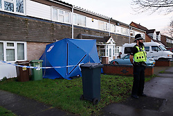 © Licensed to London News Pictures. 18/12/2015. Birmingham, UK. The scene earlier today in Raglan Way Chemlsley Wood near Birmingham where police have discovered the bodies of mother and daughter Pamela and Audrey Dunn. Photo credit : Dave Warren/LNP