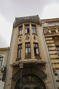 Bucharest Romania decaying classical style building
