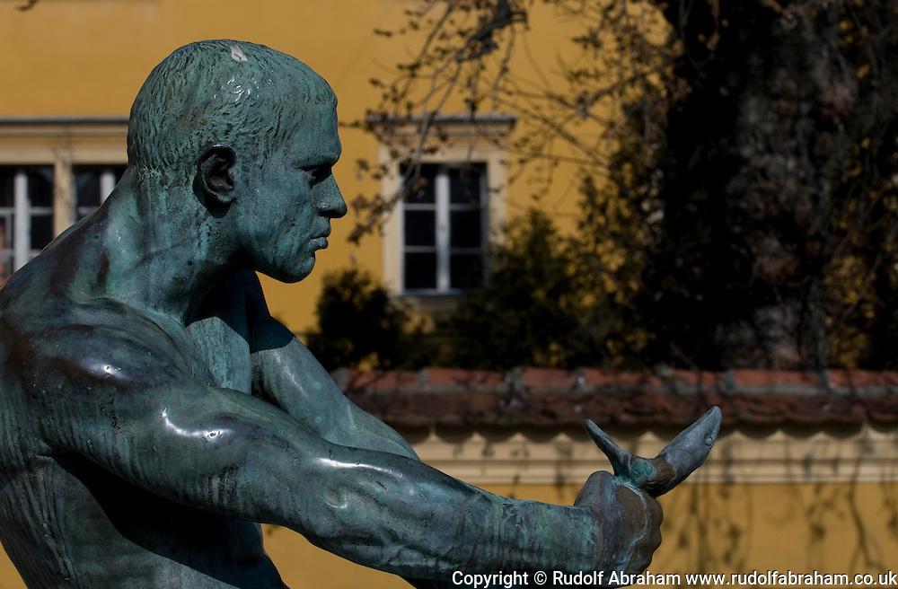 Fountain on Jezuitski trg, Gornji grad (Upper Town), Zagreb, Croatia