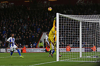 Football - 2018 / 2019 Premier League - AFC Bournemouth vs. Brighton & Hove Albion<br /> <br /> Mathew Ryan of Brighton fails to reach a looping header from Bournemouth's David Brooks to score Bournemouths and his second at the Vitality Stadium (Dean Court) Bournemouth <br /> <br /> COLORSPORT/SHAUN BOGGUST