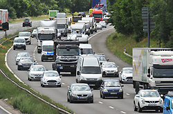 © Licensed to London News Pictures. 21/07/2017<br /> Traffic QUEUE HELL on the M25 all afternoon.<br /> THE BACK OF THE QUEUING TRAFFIC Anti-clock wise at Junction 3 for Swanley Kent.<br />  Traffic is at a near standstill as the summer holiday getaway madness begins as the schools break up for the summer.<br /> Photo credit: Grant Falvey/LNP