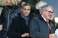 Football - 2019 / 2020 Premier League - AFC Bournemouth vs. Wolverhampton Wanderers<br /> <br /> Former Brighton manager Chris Hughton takes his seat before kick off at the Vitality Stadium (Dean Court) Bournemouth <br /> <br /> COLORSPORT/SHAUN BOGGUST