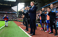 Harry Redknapp , manager of Birmingham city looks on. EFL Skybet championship match, Aston Villa v Birmingham city at Villa Park in Birmingham, The Midlands on Sunday 23rd April 2017.<br /> pic by Bradley Collyer, Andrew Orchard sports photography.