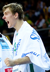Zoran Dragic of Slovenia reacts during basketball game between National basketball teams of Slovenia and Lithuania at of FIBA Europe Eurobasket Lithuania 2011, on September 15, 2011, in Arena Zalgirio, Kaunas, Lithuania. Lithuania defeated Slovenia 80-77.  (Photo by Vid Ponikvar / Sportida)