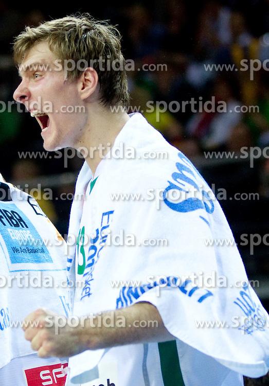 Zoran Dragic of Slovenia reacts during basketball game between National basketball teams of Slovenia and Lithuania at of FIBA Europe Eurobasket Lithuania 2011, on September 15, 2011, in Arena Zalgirio, Kaunas, Lithuania. Lithuania defeated Slovenia 80-77.  (Photo by Vid Ponikvar / Sportida)