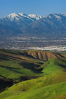 San Juan Hill in the Chino Hills provided a great view of the valley with the snow capped San Gabriel Mountains in the distance.<br />