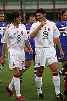 Milano 13/8/2004 Trofeo Seat. Milan - Sampdoria 2-2. Sampdoria won after penalties - Sampdoria vince ai rigori.<br /> <br /> Ricardo Kaka (L) and Kaka Kaladze (R) Milan<br /> <br /> Foto Andrea Staccioli Graffiti