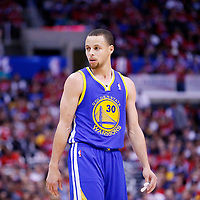 21 April 2014: Golden State Warriors guard Stephen Curry (30) is seen during the Los Angeles Clippers 138-98 victory over the Golden State Warriors, during Game Two of the Western Conference Quarterfinals of the NBA Playoffs, at the Staples Center, Los Angeles, California, USA.