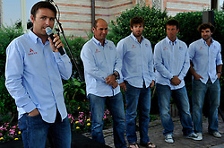 Damien Iehl introduces his team at the opening ceremony. Photo: Chris Davies/WMRT