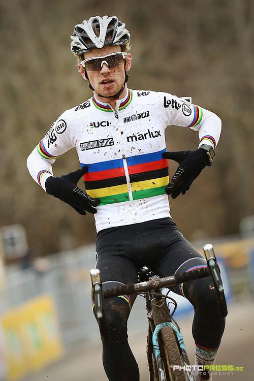 ITALY / ITALIE / FIUGGI / REGIO LAZIO / CYCLING / CYCLOCROSS / VELDRIJDEN / RADQUER / WORLD CUP #7 / WERELDBEKER #7 / COUPE DU MONDE #7 / 8TH MEMORIAL ROMANO SCOTTI / U23 / AANKOMST / ARRIVE / FINISH / ISERBYT ELI (MARLUX - NAPOLEON GAMES CYCLING TEAM) /