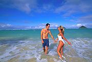 Lanikai Beach, Oahu, Windward Oahu, Hawaii, USA<br />