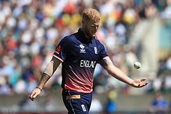 England's Ben Stokes before bowling during the ICC Champions Trophy, Group A match at The Oval, London.
