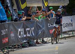 Tanja Zakelj during the race of XCO National Championship of Slovenia 2021 on 27.06.2021 in Kamnik, Slovenia. Photo by Urban Meglič / Sportida