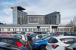 Visitors car park at Queen Elizabeth University Hospital in Glasgow, Scotland, UK