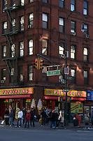 Street corner on 7th Avenue and 14th Street Manhattan New York