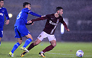 Ben Close of Portsmouth battles with Matt Grimes of Northampton Town (r). EFL Skybet Football League one match, Northampton Town v Portsmouth at the Sixfields Stadium in Northampton on Tuesday 12th September 2017. <br /> pic by Bradley Collyer, Andrew Orchard sports photography.