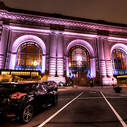 My car parked in front of Union Station in Kansas City, Missouri.