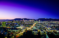 Downtown Vancouver (Cambie Street and Cambie Bridge in foreground), British Columbia, Canada
