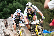 Nino SCHURTER (SUI) and Lars FORSTER (SUI) of team Scott-SRAM MTB-Racing during the Prologue of the 2019 Absa Cape Epic Mountain Bike stage race held at the University of Cape Town in Cape Town, South Africa on the 17th March 2019.<br /> <br /> Photo by Greg Beadle/Cape Epic<br /> <br /> PLEASE ENSURE THE APPROPRIATE CREDIT IS GIVEN TO THE PHOTOGRAPHER AND ABSA CAPE EPIC