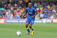 AFC Wimbledon midfielder Jimmy Abdou (8) dribbling during the EFL Sky Bet League 1 match between AFC Wimbledon and Doncaster Rovers at the Cherry Red Records Stadium, Kingston, England on 26 August 2017. Photo by Matthew Redman.