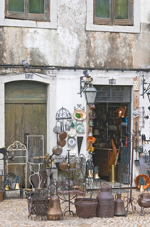 An antiques and bric-aa-brac shop in Azeitao, Portugal.