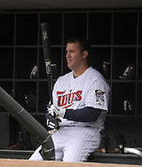 MINNEAPOLIS - APRIL 23:  Jim Thome #25 of the Minnesota Twins looks on against the Cleveland Indians on April 23, 2011 at Target Field in Minneapolis, Minnesota.  The Twins defeated the Indians 10-3.  (Photo by Ron Vesely)  Subject:  Jim Thome