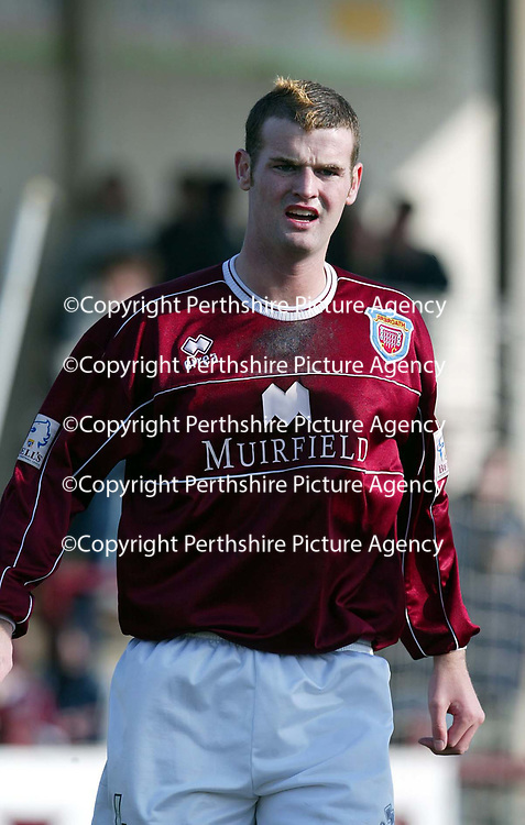 Arbroath v Inverness Caley Thistle.. 15.03.03<br />Arbroath trialist Alan McDermid (McDermott) ex Man Utd player<br />Pic by Graeme Hart<br />Copyright Perthshire Picture Agency<br />Tel: 01738 623350 / 07990 594431