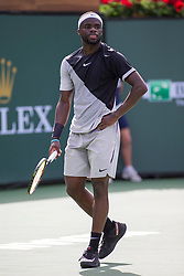 March 09, 2018: Frances Tiafoe (USA) defeated by Ernesto Escobedo (USA) 7-5, 6-3 at the BNP Paribas Open played at the Indian Wells Tennis Garden in Indian Wells, California. ©Mal Taam/TennisClix/CSM/Sipa USA(Credit Image: © Mal Taam/CSM/Sipa USA)