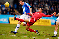 Photo: Alan Crowhurst.<br />Brighton & Hove Albion v Nottingham Forest. Coca Cola League 1. 17/02/2007. Forest's Nathan Tyson (R) goes close.