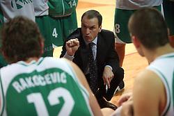 Coach of Krka Rade Mijanovic at basketball game Zlatorog Lasko - Krka in in the first match of quarter-final of Spar Cup, on February 7, 2008 in Ljubljana, Slovenia.   (Photo by Vid Ponikvar / Sportal Images).