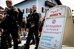 05.06.2015, Garmisch Partenkirchen, GER, G7 Gipfeltreffen auf Schloss Elmau, Circa 300 Menschen demonstrieren in Garmisch-Patenkirchen gegen den G7-Gipfel im benachbarten Elmau, im Bild Sonderangebot zum G7-Gipfel // during Protest of the G7 opponents prior to the scheduled G7 summit which will be held from 7th to 8th June 2015 in Schloss Elmau near Garmisch Partenkirchen. Garmisch Partenkirchen, Germany on 2015/06/05. EXPA Pictures © 2015, PhotoCredit: EXPA/ Eibner-Pressefoto/ Gehrling<br /> <br /> *****ATTENTION - OUT of GER*****