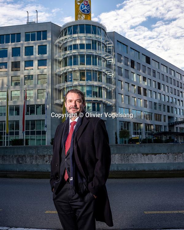 Genève, décembre 2019. Jürg Wittwer, directeur général du TCS. Au siège à Vernier-Blandonnet© Olivier Vogelsang
