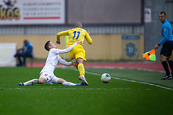 Tonci Mujan of Domzale and Tilen Mlakar of Triglav during football match between NK Domzale and NK Triglav in Round #18 of Prva liga Telekom Slovenije 2019/20, on November 23, 2019 in Sports park Domzale, Slovenia. Photo by Sinisa Kanizaj / Sportida