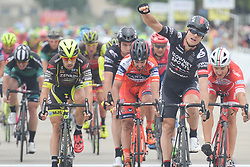 September 20, 2017 - Changde City, China - SCOTT SUNDERLAND (First Right) from Isowhey Sports Swisswellness wins the second stage of the 2017 Tour of China 2, the 97.6km Changde Lixiang Circuit Race in Lixian County, Changde City, Hunan Province, China. (Credit Image: © Artur Widak/NurPhoto via ZUMA Press)