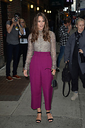 September 12, 2018 - New York, NY, USA - September 12,  2018 New York City..Keira Knightley arriving to tape an appearance on 'The Late Show with Stephen Colbert' on September 12, 2018 in New York City. (Credit Image: © Kristin Callahan/Ace Pictures via ZUMA Press)