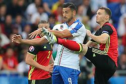 13-06-2016 FRA: UEFA EURO Belgie - Italie, Lyon<br /> België verliest met 2-0 van Italie / Thomas Vermaelen (BEL), Graziano Pelle (ITA)<br /> <br /> ***NETHERLANDS ONLY***