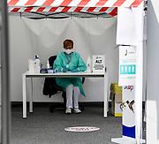 Foto Fabio Ferrari/LaPresse <br /> 05 Maggio 2020 Torino, Italia <br /> News<br /> Emergenza COVID-19 (Coronavirus) - La Juventus torna al lavoro<br /> Nella foto:Misurazione della febbre prima di entrare al J Medical<br /> <br /> Photo Fabio Ferrari/LaPresse <br /> May 5, 2020 Turin, Italy <br /> News<br /> COVID-19 emergency (Coronavirus) - Juventus Fc return to work.<br /> in the pic:Measurement of fever before entering J Medical