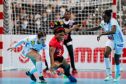 08-12-2019 JAP: Angola - France, Kumamoto<br /> First round President's Cup match Angola - France (17-28) at 24th IHF Women's Handball World Championship. / Albertina Kassoma #10 of Angola