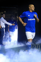 14 July 2017 -  Star Sixes Football - Roberto Carlos of Brazil takes to the pitch amid a plume of smoke and pyrotechnics - Photo: Marc Atkins / Offside.