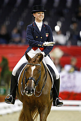 Elkjaer Holm Anne Katrine (DEN) - Bernstein Las Marismas<br /> FEI World Cup Dressage Final for Young Riders<br /> Frankfurt 2009<br /> Photo© Hippo Foto - Leanjo de Koster