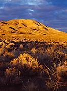 Sunset light illuminating the Monitor Range, Nevada.