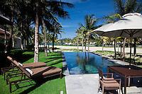 Private pool villa beachfront at the Nam Hai Resort, Hoi An, Vietnam.