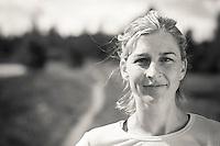 Lauren Fleshman trail running in Bend, Oregon