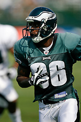 Philadelphia Eagles wide receiver Reggie Brown #86 during the Philadelphia Eagles NFL training camp in Bethlehem, Pennsylvania at Lehigh University on Saturday August 8th 2009. (Photo by Brian Garfinkel)