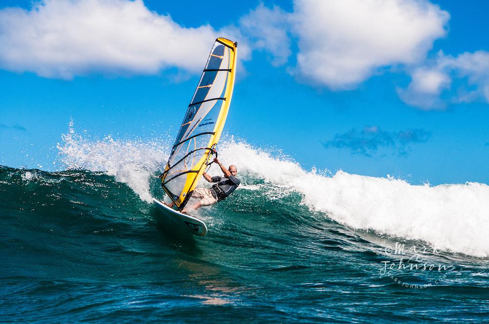 Windsurfing in Hanalei Bay, Kauai, Hawaii ****Model Release available