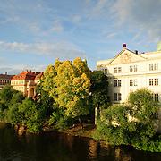 Bank of the River Vltava in central Prague