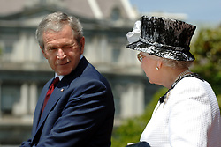 File photo dated 07/05/07 of the then US President George Bush and Queen Elizabeth II at the White House, Washington DC.