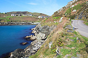 South Harbour bay, road and houses, Cape Clear Island, County Cork, Ireland, Irish Republic